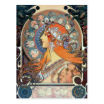 Señora del arte del vintage del art déco de la muj tarjetas postales