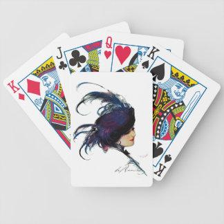 señora del Azul-pájaro Cartas De Juego