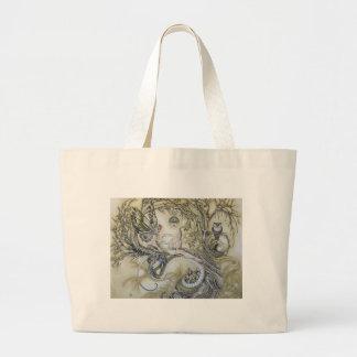 Señora del bosque bolsas lienzo