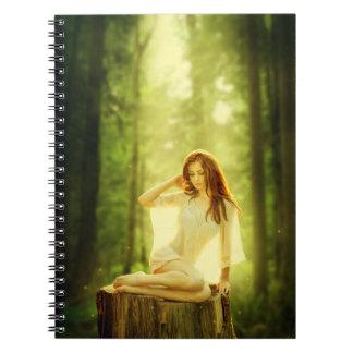 Señora del bosque encantado spiral notebooks