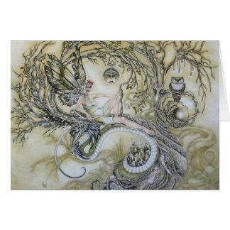 Señora del bosque tarjeta de felicitación