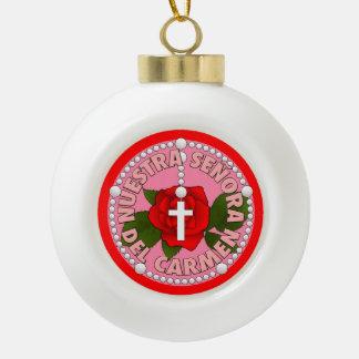 Señora del Carmen Ceramic Ball Christmas Ornament