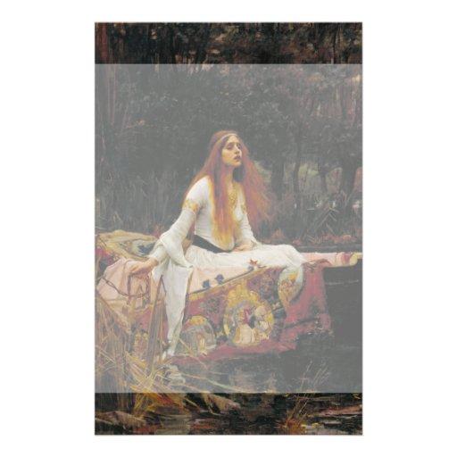 Señora del chalote de John William Waterhouse Tarjetones