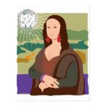 Señora del disco de Mona Lisa Postal