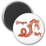 Señora del dragón iman para frigorífico