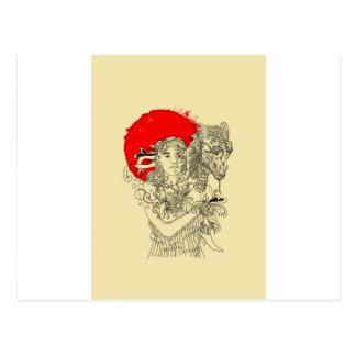 señora del dragón tarjetas postales