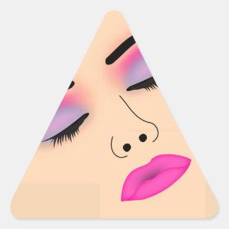 Señora del encanto pegatina triangular