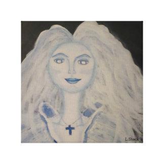 Señora del fantasma impresión en lienzo