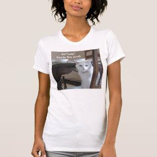 ¡Señora del gato! (dentro de esta camisa) Playeras