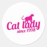 señora del gato desde 1998 etiquetas
