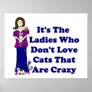 Señora del gato no loco posters