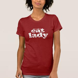 Señora del gato camiseta
