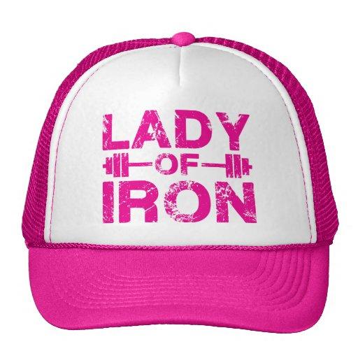 Señora del gorra del hierro para la camisa de las