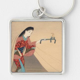Señora del japonés de Toragozin Ishikawa Toraji de Llaveros
