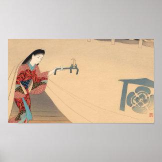 Señora del japonés de Toragozin Ishikawa Toraji de Impresiones