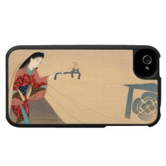 Señora del japonés de Toragozin Ishikawa Toraji de iPhone 4 Protector