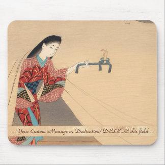 Señora del japonés de Toragozin Ishikawa Toraji de Tapetes De Ratones