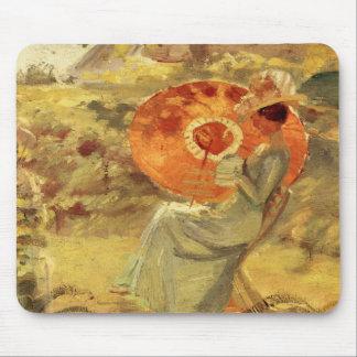 Señora del jardín con el arte Ana Ancher de la pin Tapetes De Raton