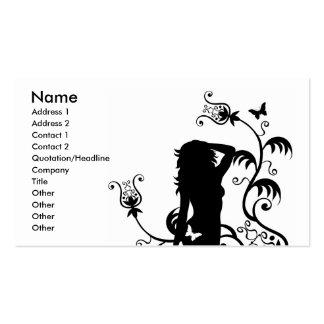 Señora del jardín del placer plantilla de tarjeta personal