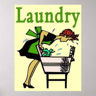 Señora del lavadero póster