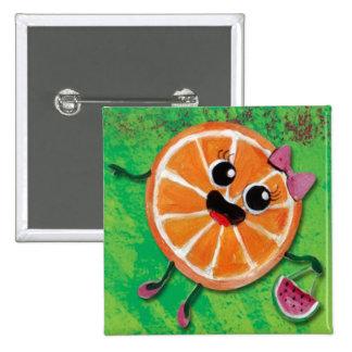 Señora del naranja dulce pins