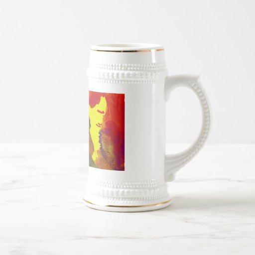 Señora del ópalo tazas de café