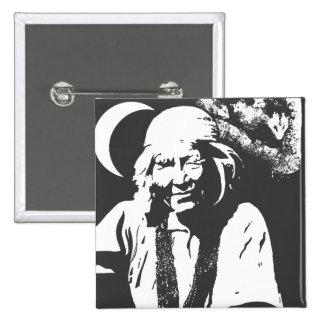 Señora del oposum pin cuadrada 5 cm