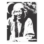 Señora del oposum tarjeta postal