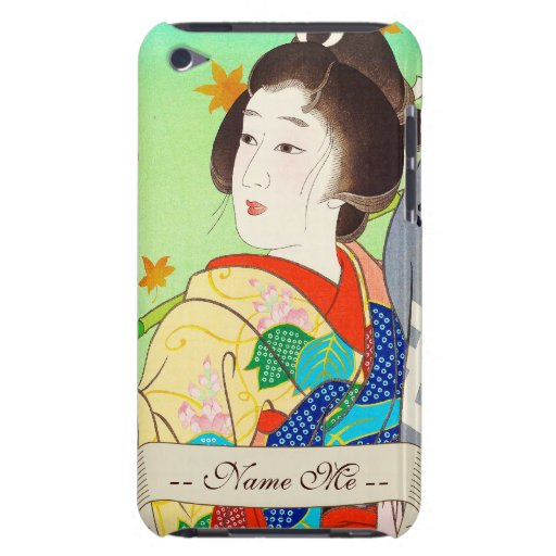 Señora del otoño de la flor de la luna de la nieve iPod touch cárcasa