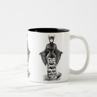 Señora del palo del vintage tazas