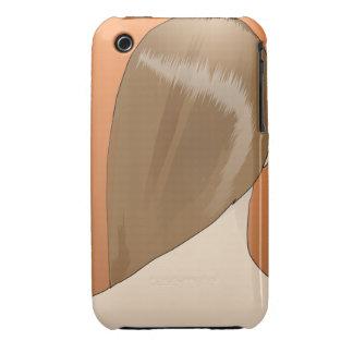 Señora del pelo de Brown Case-Mate iPhone 3 Protector