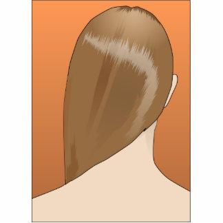 Señora del pelo de Brown Fotoescultura Vertical