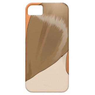 Señora del pelo de Brown Funda Para iPhone 5 Barely There