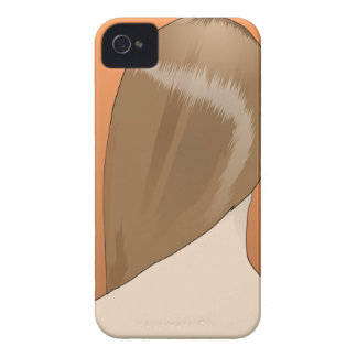 Señora del pelo de Brown iPhone 4 Case-Mate Carcasa