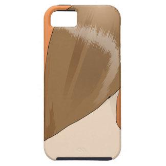 Señora del pelo de Brown iPhone 5 Funda