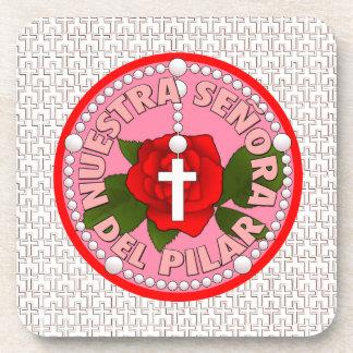 Señora Del Pilar Beverage Coaster