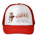 Señora del póker gorras de camionero