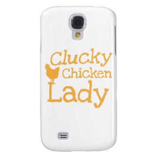 Señora del pollo de Clucky Funda Para Galaxy S4
