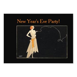"""señora del Redhead del vintage de los años 20 Invitación 5"""" X 7"""""""