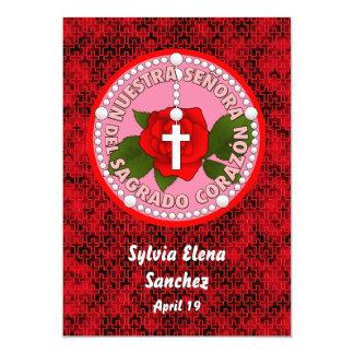 Señora Del Sagrado Corazón Invite