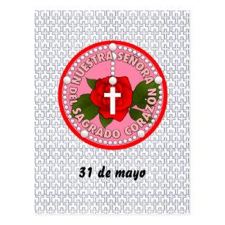 Señora del Sagrado Corazón Postcard
