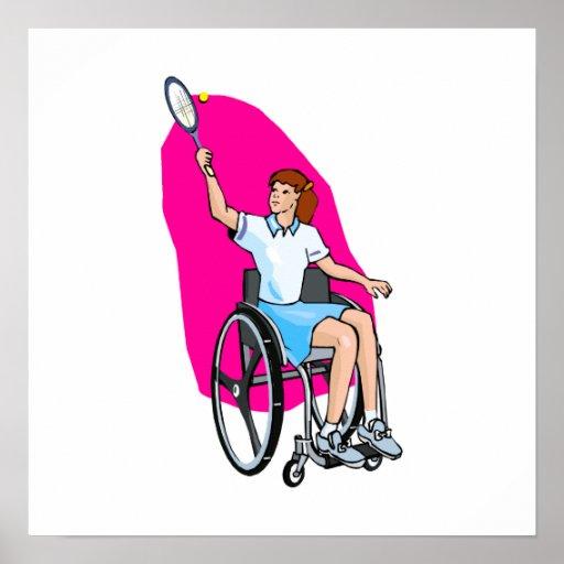 Señora del tenis póster