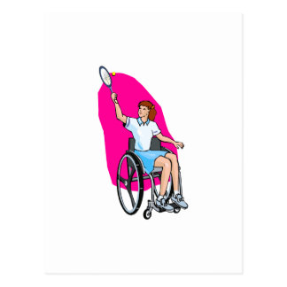 Señora del tenis postal