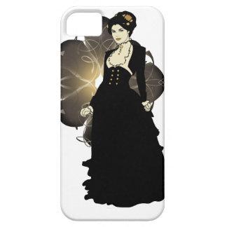 Señora del Victorian del tono de la sepia iPhone 5 Fundas