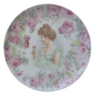 Señora del Victorian II Plato De Cena