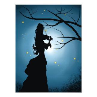 Señora del Victorian que toca un violín Fotografía