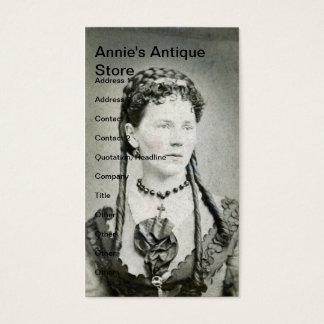 Señora del vintage, la tienda antigua de Annie Tarjetas De Visita