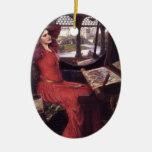 Señora del waterhouse de Juan de Shalott Ornamento De Reyes Magos