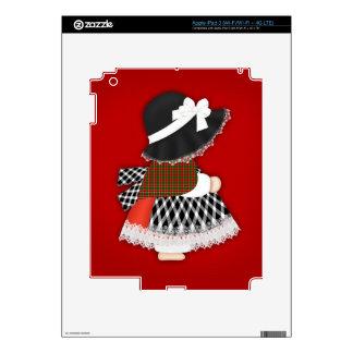 Señora Design With Traditional Costume Galés iPad 3 Pegatinas Skins