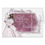Señora Designed Holiday Card del invierno de las F Tarjeta